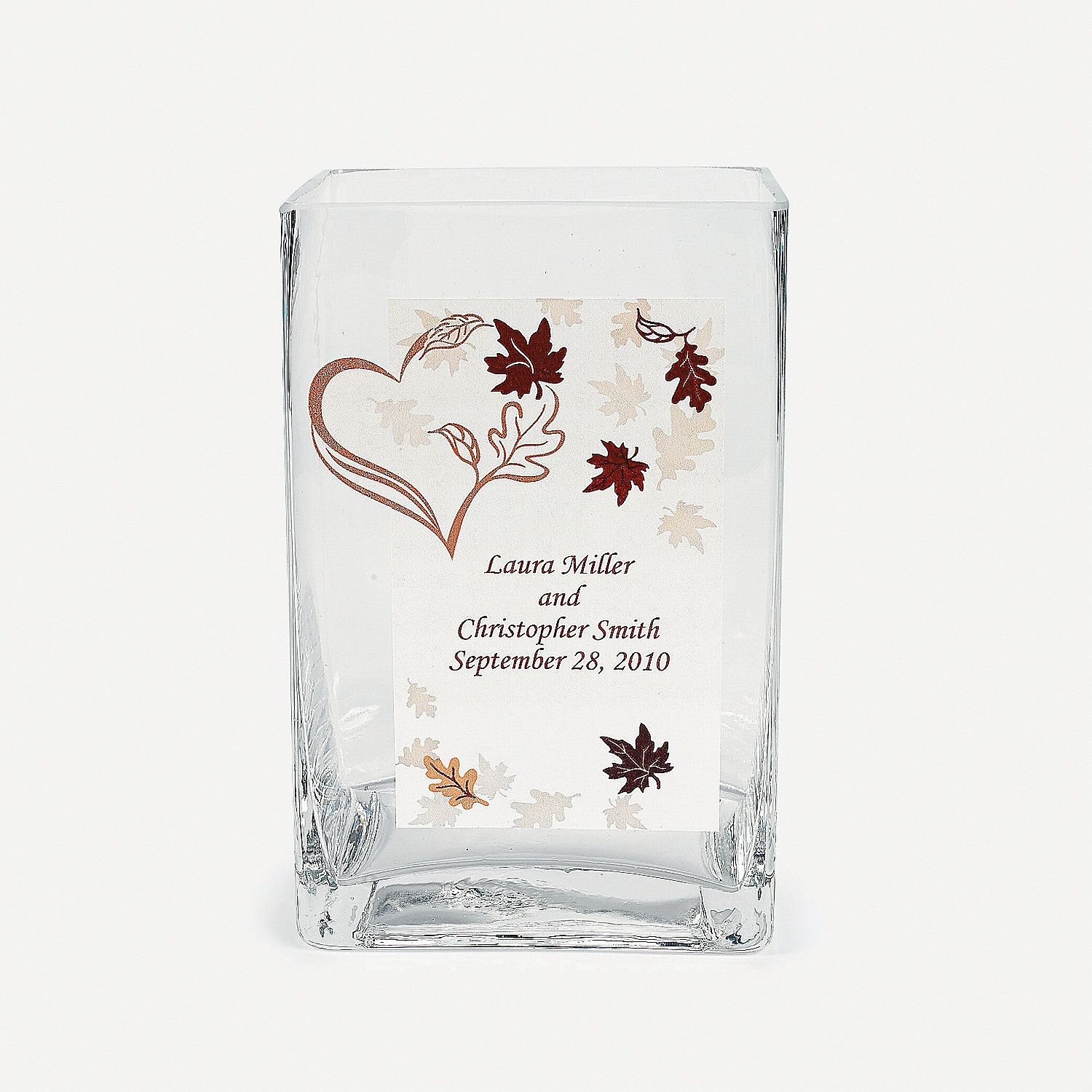 Personalized Fall Wedding Glass Cling - OrientalTrading.com | Julie ...