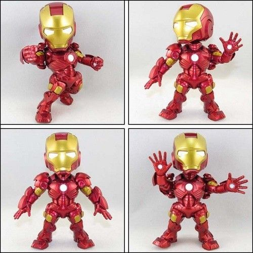 Iron Man Mini Figure Doll Marvel Avengers LED 15cm Funko Pop Collection Kids Toy