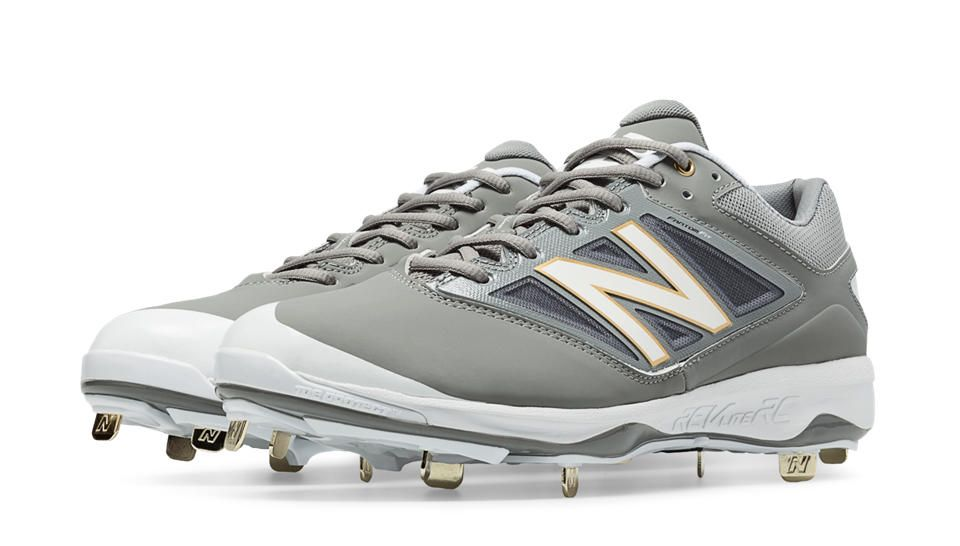 ebd37364e41f2 Low-Cut 4040v3 Metal Cleat, Grey with White | Baseball CS7 | Metal ...