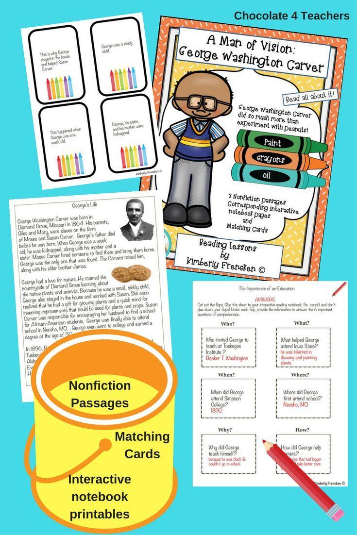 George Washington Carver: Interactive Nonfiction Reading Lessons ...