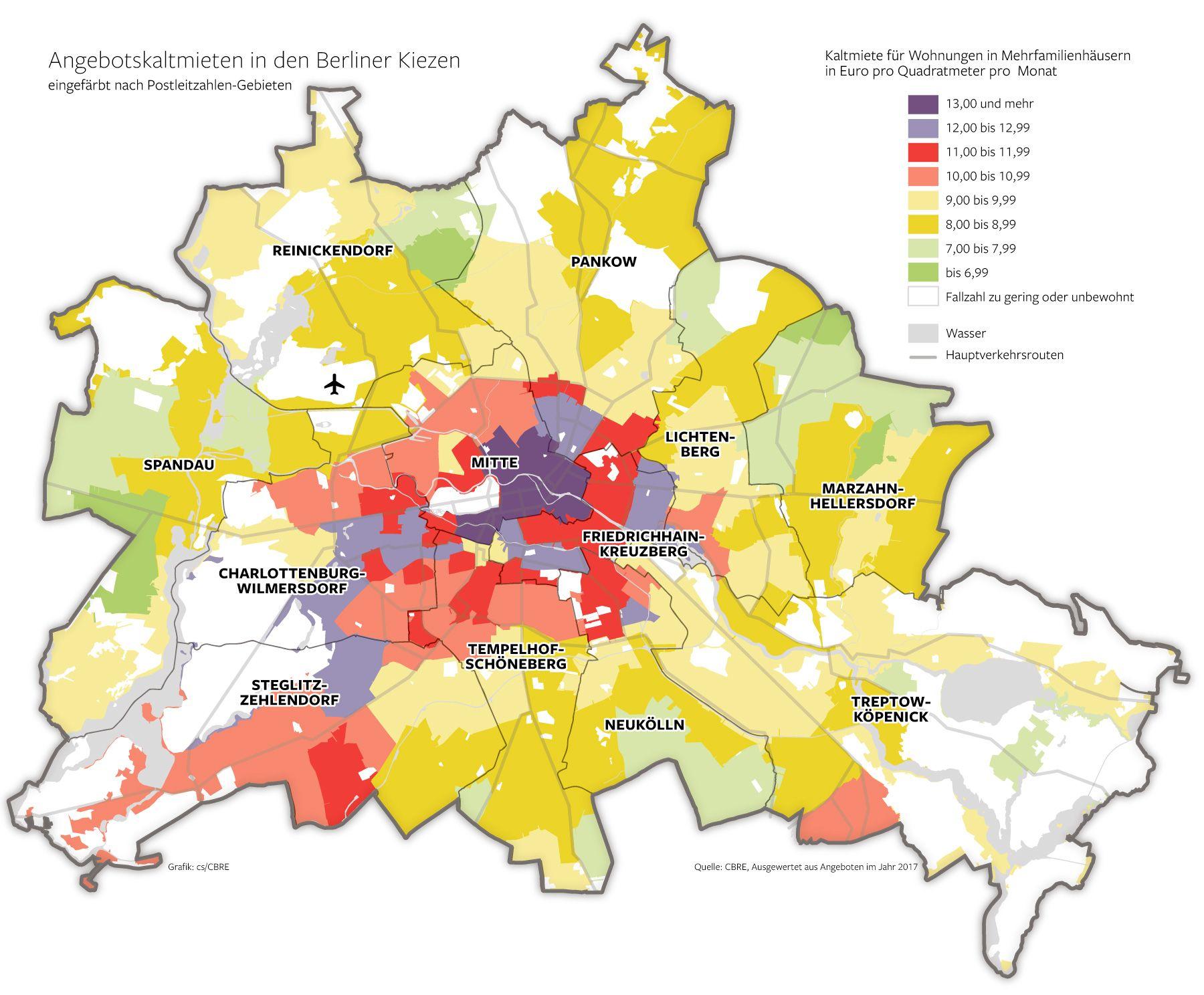 Wohnmarktreport 2018 Was Die Miete In Deinem Kiez In Berlin