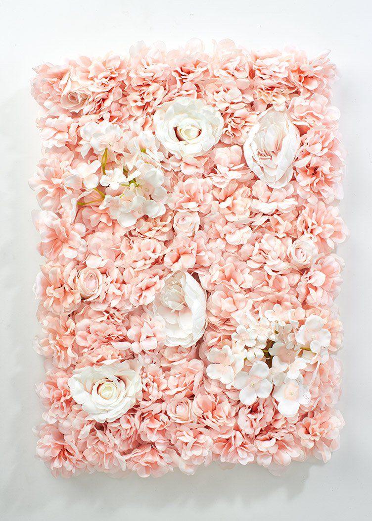 Blush Artificial Mixed Flower Wall Tile Mat 24 In 2019 Cherry