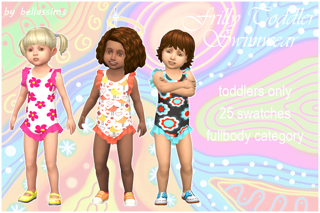 Sims 4 CC's - The Best: Toddlers Swimwear by Bellassims