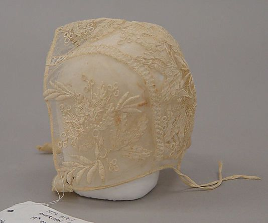 Cap Date: 19th century Culture: probably American Medium: cotton Dimensions: Height: 6 1/4 in. (15.9 cm) Credit Line: Gift of W. Robert LaVi...