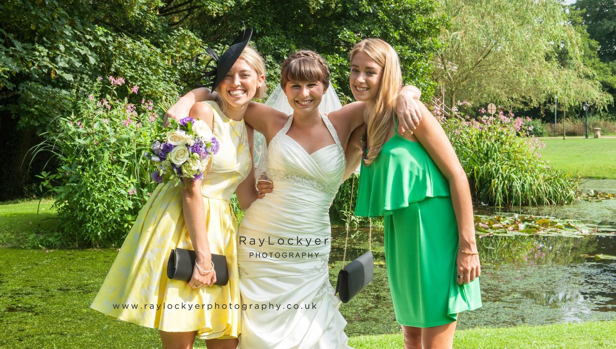 Ray Lockyer Yeovil Wedding Photographer - Bride with friends at Haselbury Mill