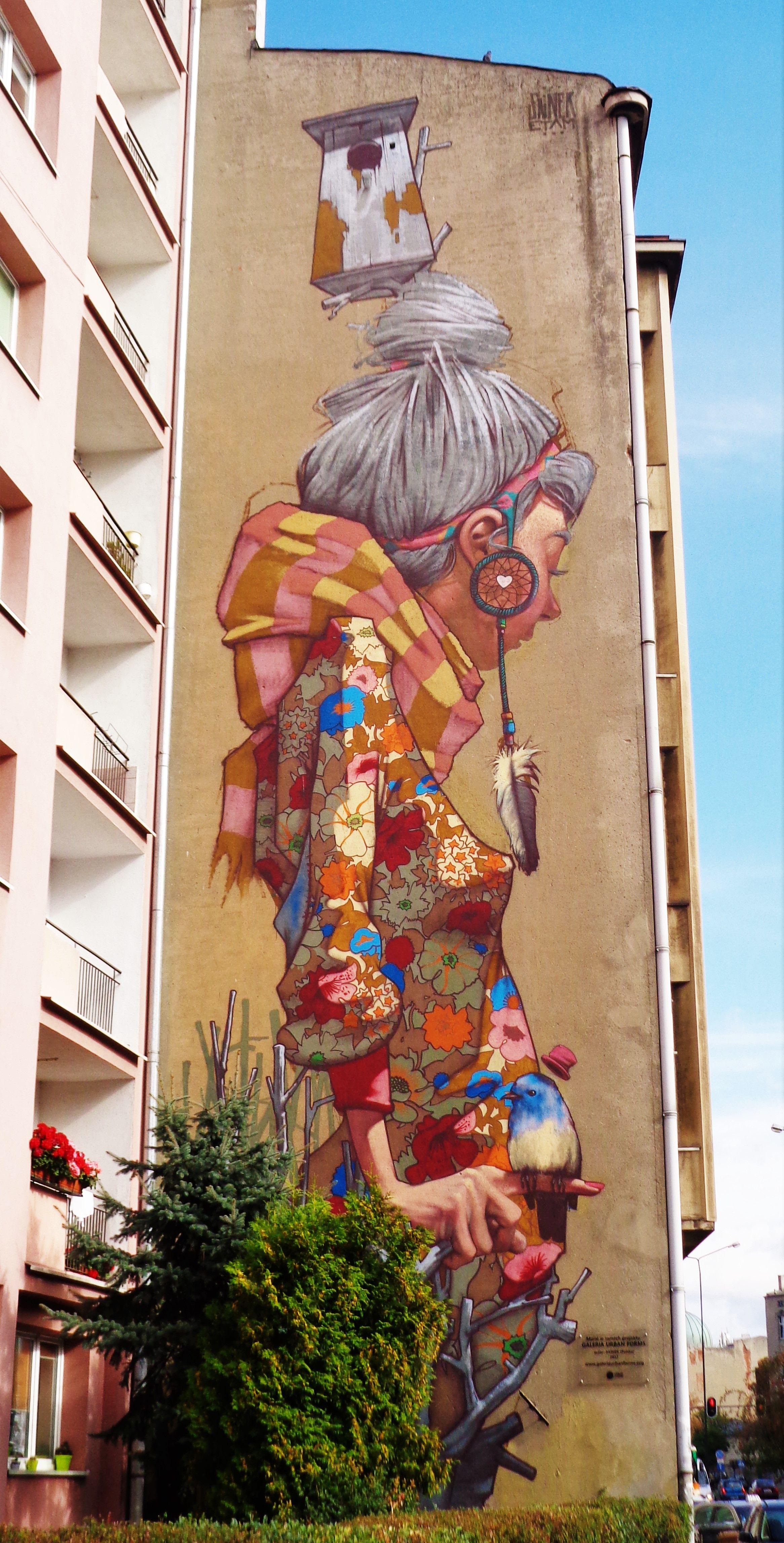 Mural In Lodz Poland Ul Uniwersytecka Murale Street Art In Lodz