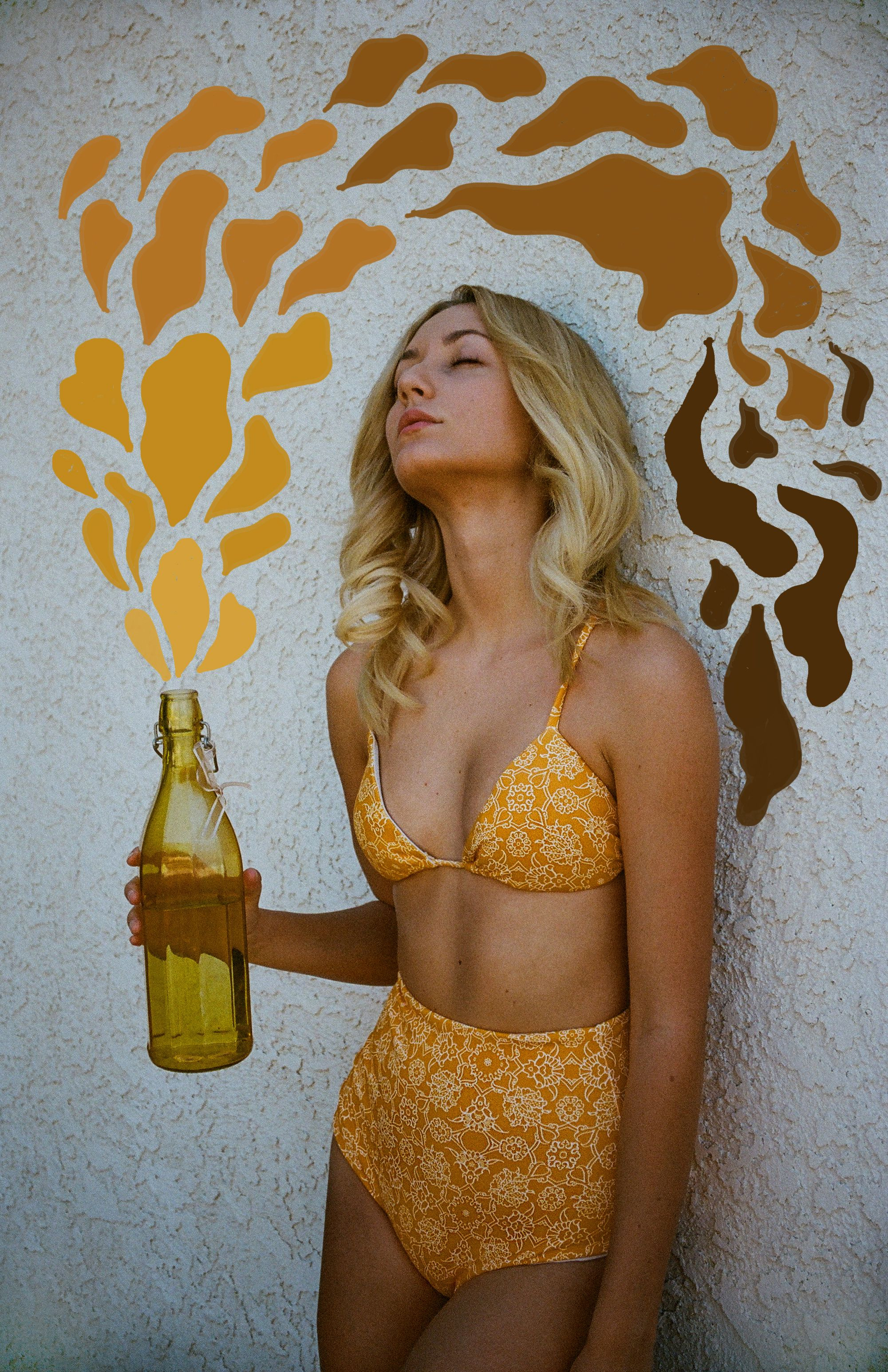 Buttercup Tile print 'clara' top and 'katie' bottoms. Pic and art by Dana Trippe