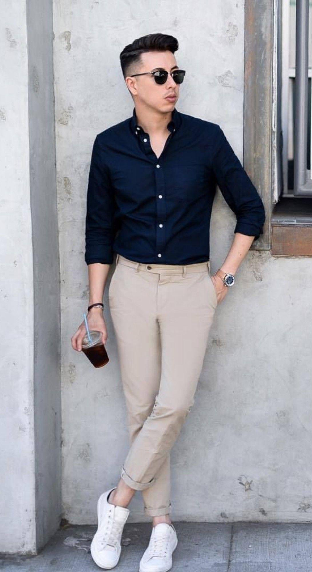 Sneakers Men Men Fashion Casual Shirts Mens Casual Outfits Summer Mens Fashion Casual Outfits [ 2000 x 1091 Pixel ]