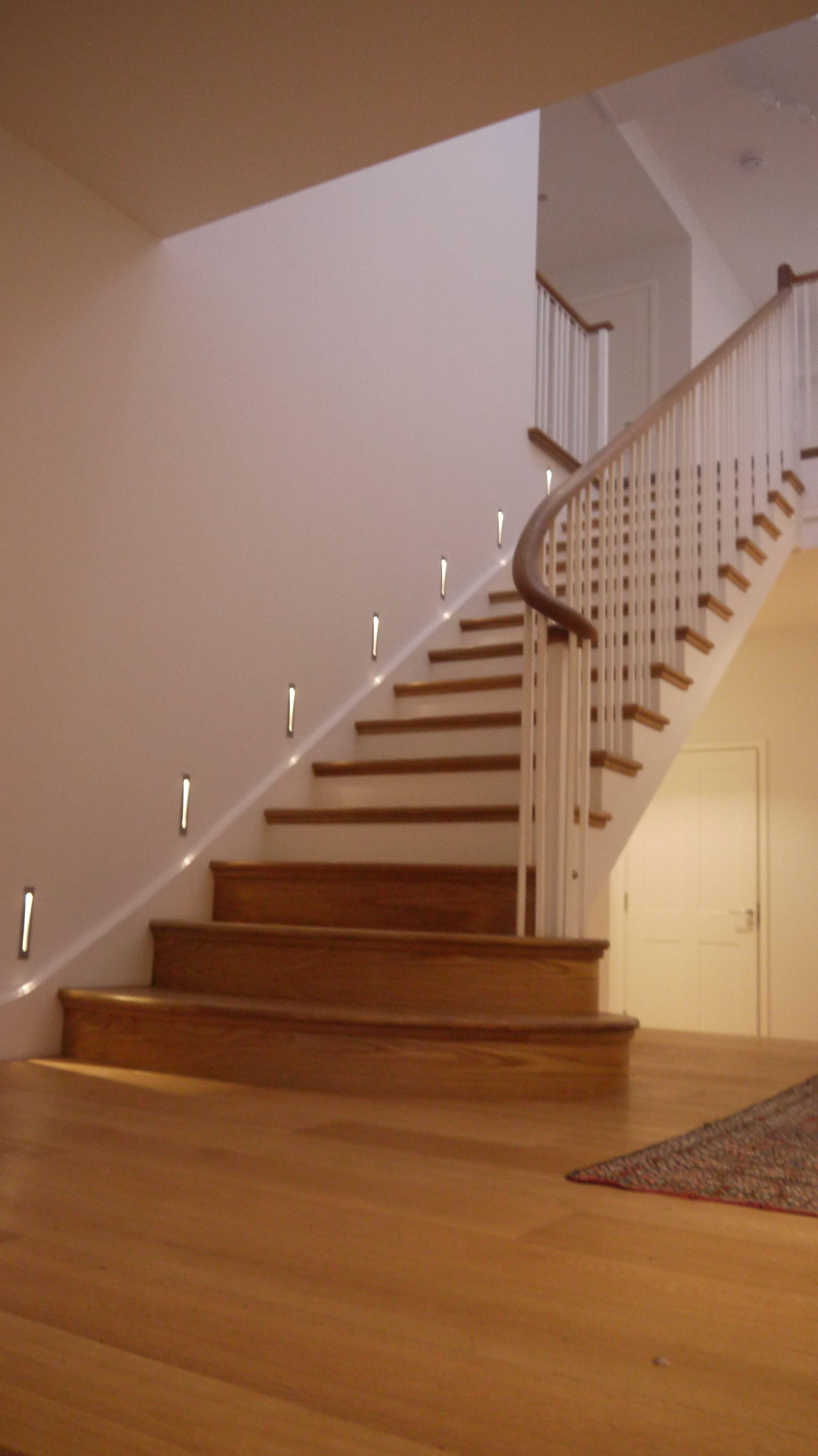 Cut String Staircase, Oak Bullnose Steps U0026 Scroll