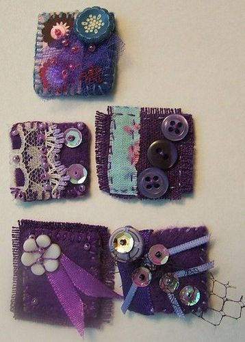 PURPLE INCHIES SWAP - 2 -SENT by MAD MUMMY, via Flickr
