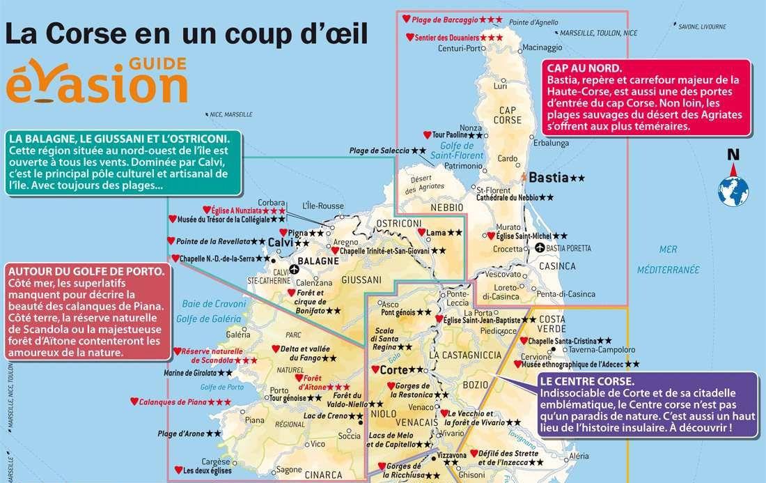 Carte Corse Touristique.Carte Corse Du Nord Villes Voyages En 2019 Corse Du