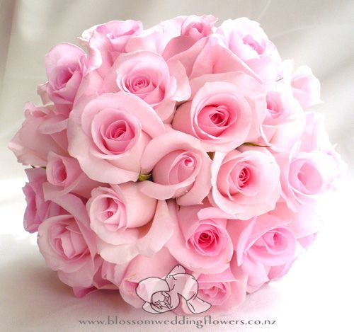 pink-rose-bouquet | Hydrangea bridal bouquet, Pink roses and ...