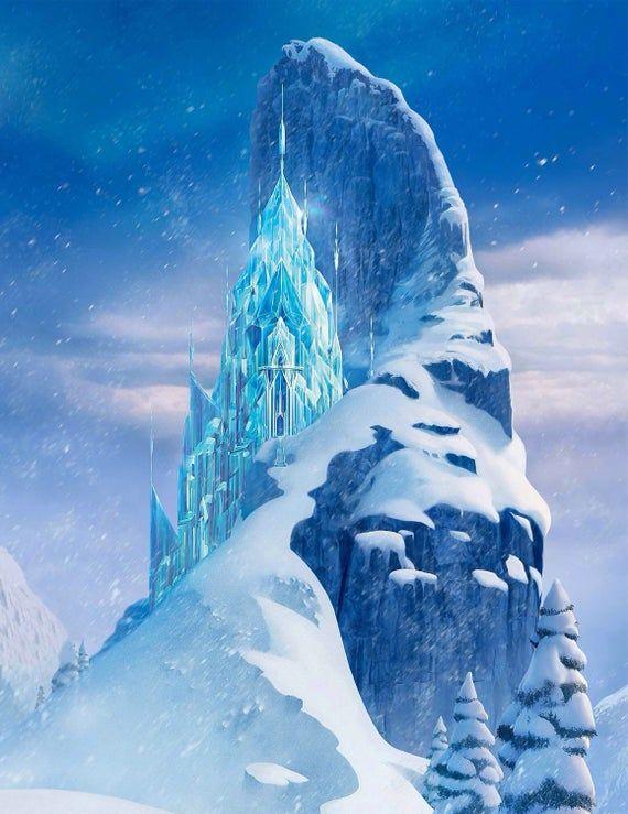 Frozen Castle Wallpaper Elsa Castle Wall Sticker Baby Girl Peel and Stick Wallpaper Wall Mural Exclu