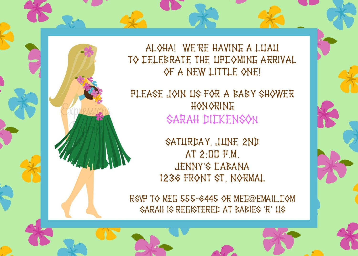 hawaiian baby showers luau baby showers luau invitations baby shower
