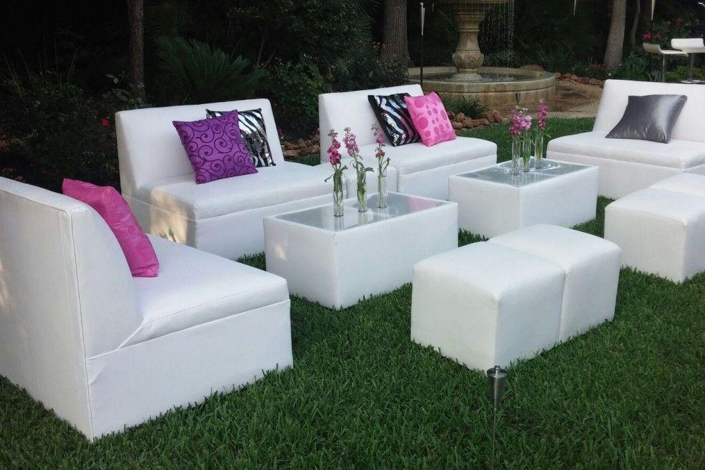 White Lounge Sofas Outdoors Rental Furniture Wedding Furniture