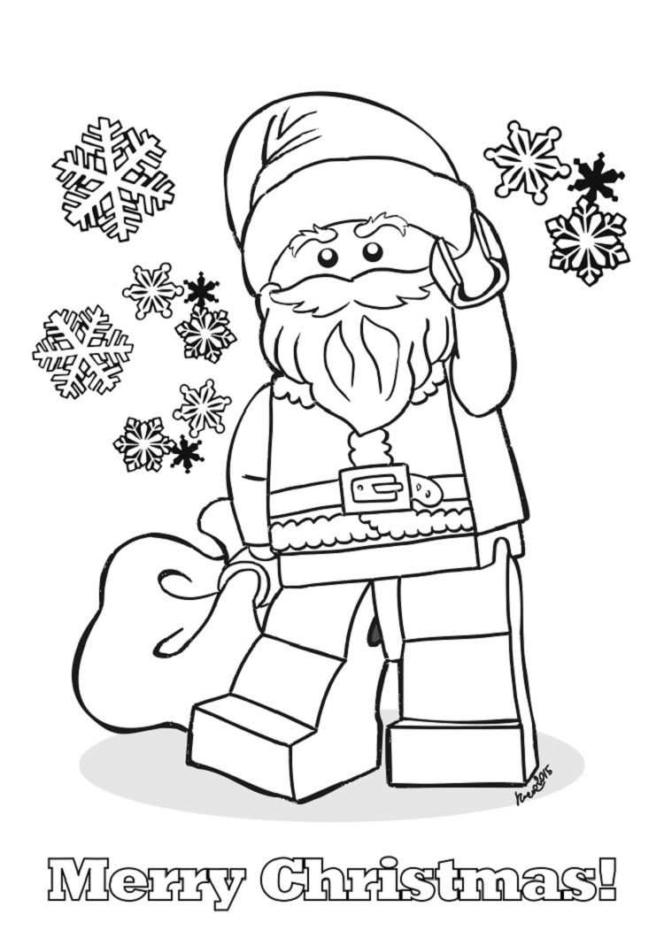 Lego coloring pages christmas