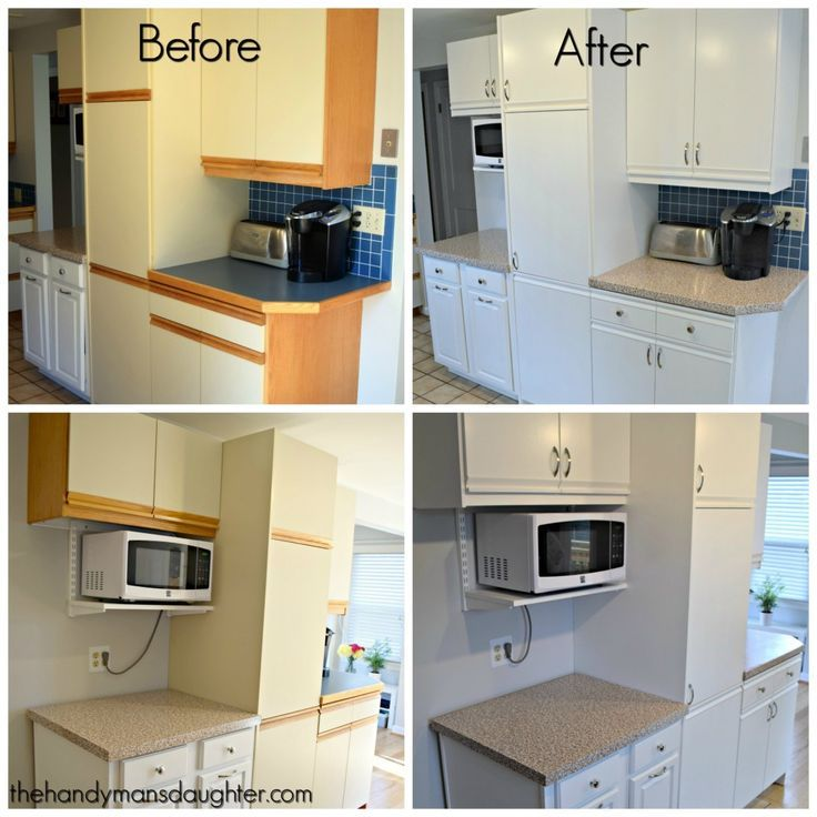 Tips for Updating Melamine Cabinets with Oak Trim   Kitchens ...