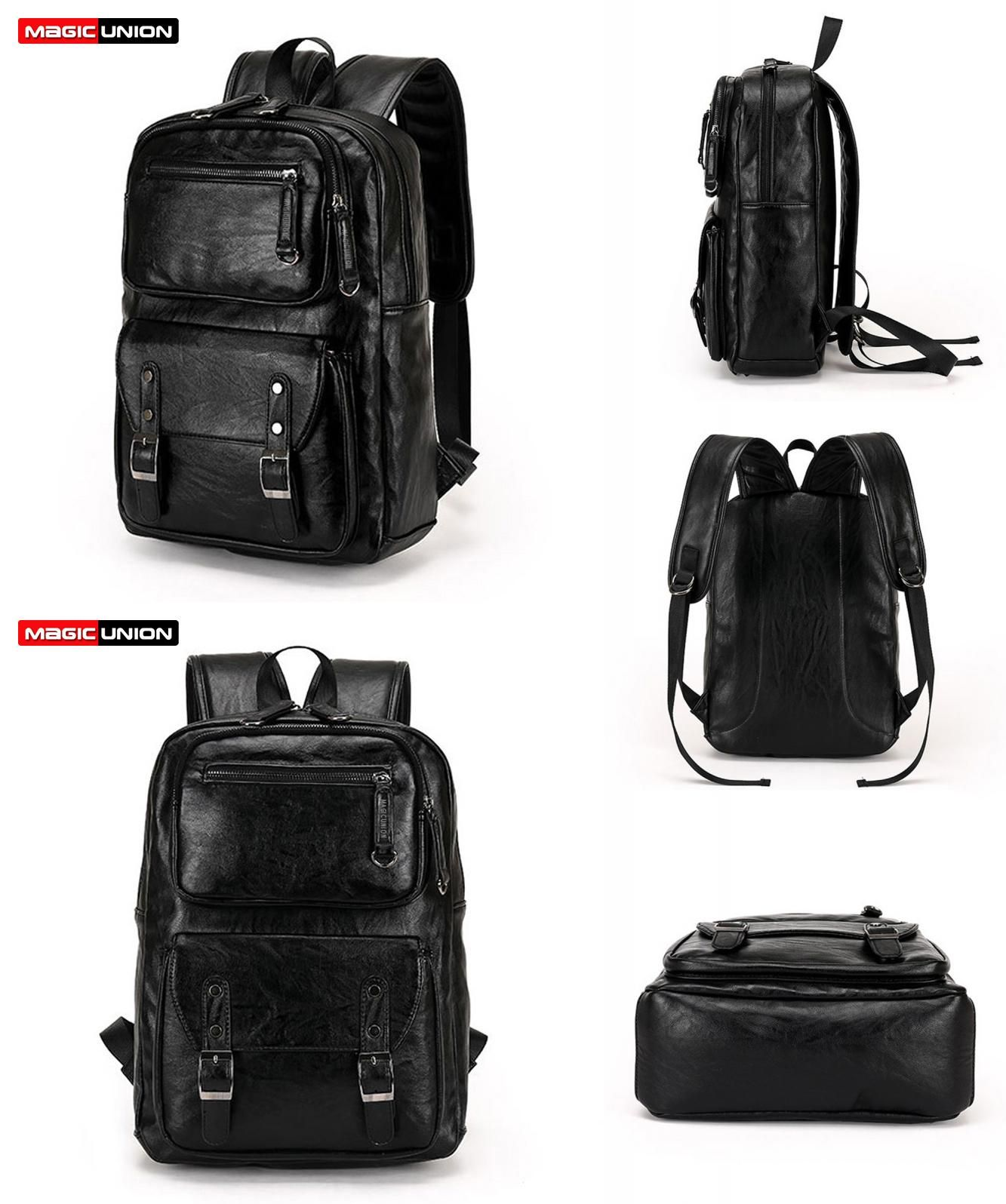 visit to magic union men patent leather backpack men s travel