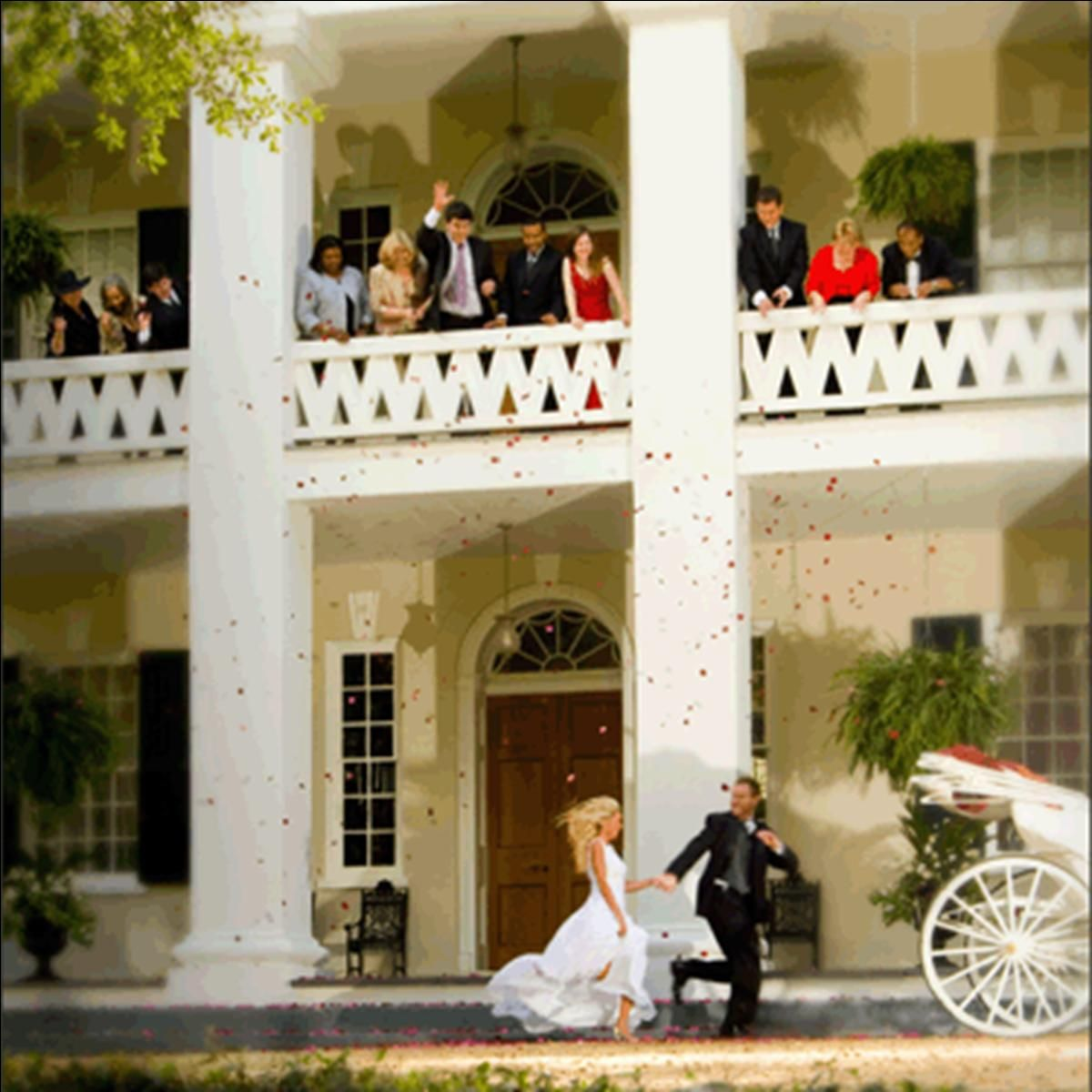 Wedding Balcony At Monmouth Plantation In Natchez MS