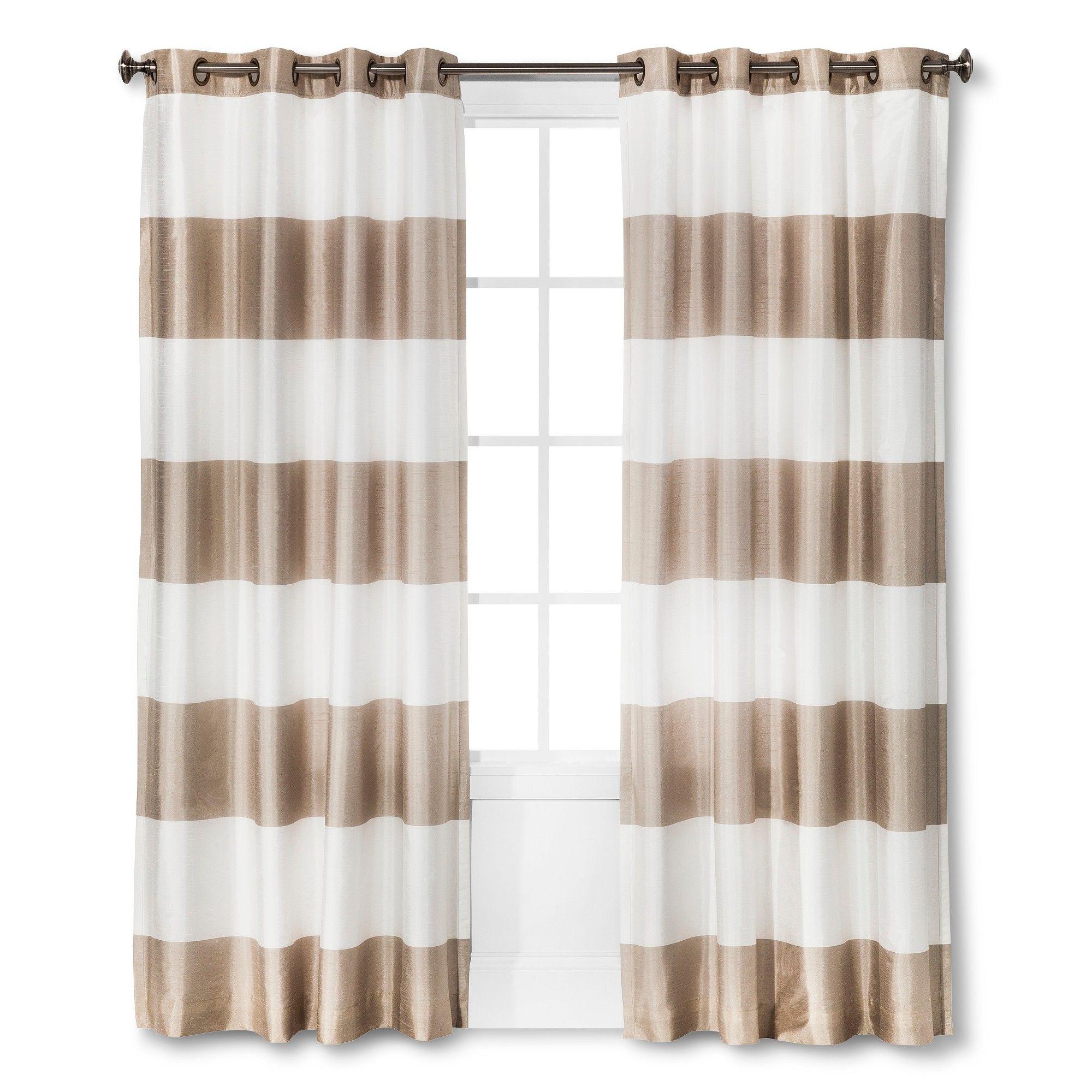 Bold Curtain Panel Tan 54x95 Threshold In 2019