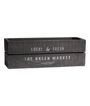 Rectangular Antique Finish Wooden Box With A Printed Text Design At Front Appearance May Vary From Product To Product Feet At Bas Trae Kasser Antikken Kasser