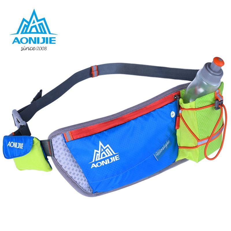 Women Men Bum Pack Running Water Bag Outdoor Sport Light Weight Sport Bottle Bag