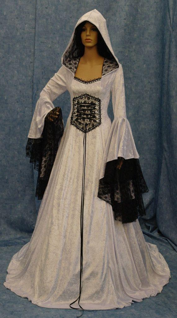 Vestido de boda renacentista medieval vestido por camelotcostumes ...