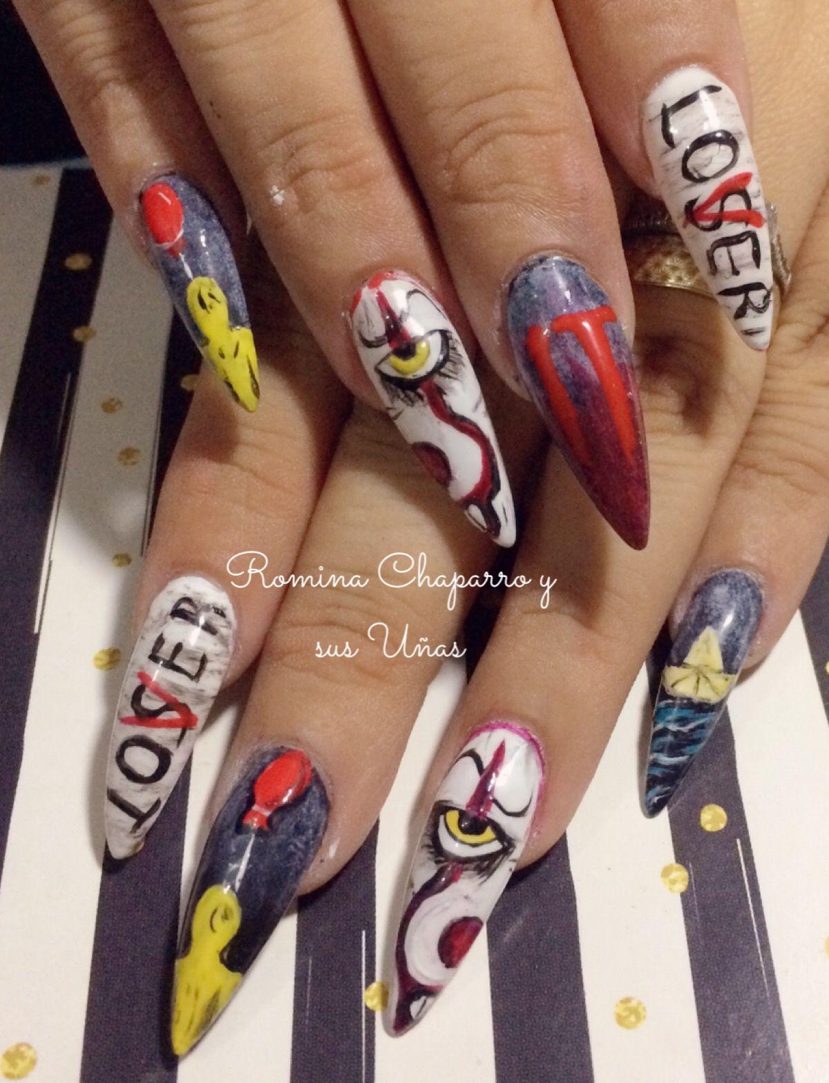 Eso 2020 Halloween Uñas del payaso eso, nails it en 2020 | Diseños de uñas halloween