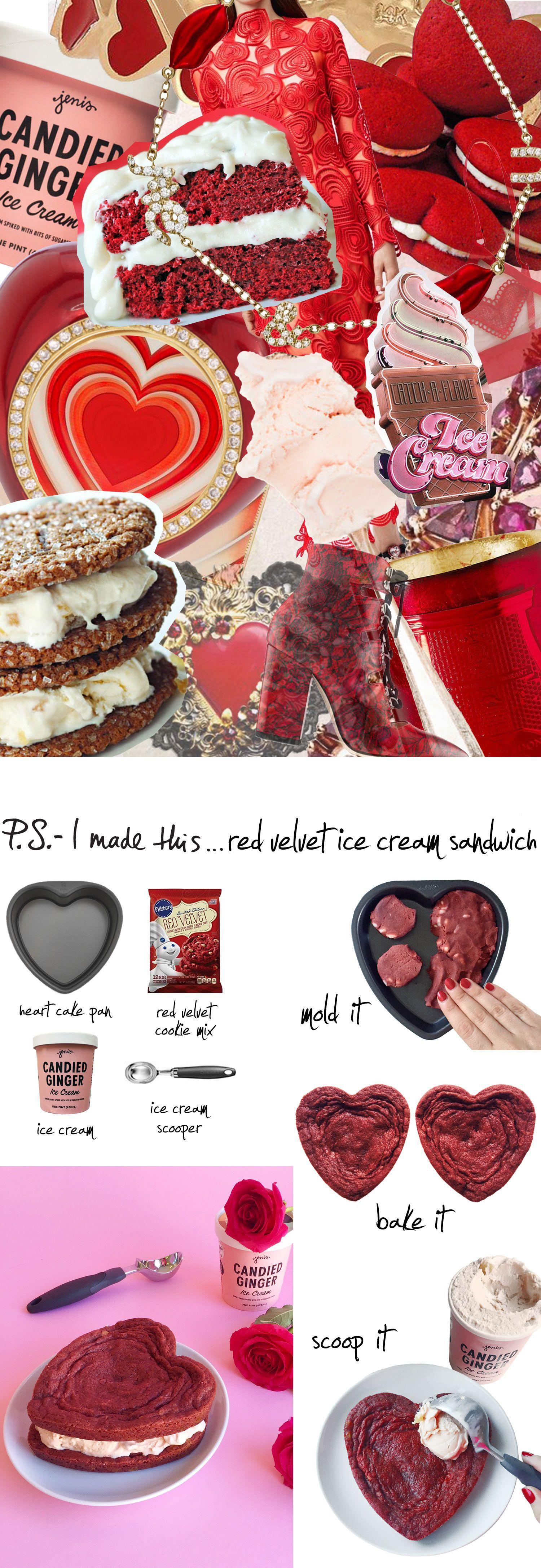P.S.- I made this... Red Velvet Ice Cream Sandwich #PSIMADETHIS #DIY