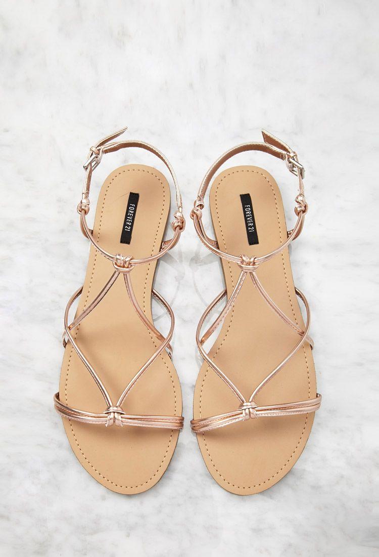 d1b963a603f0ad Metallic Knotted Sandals