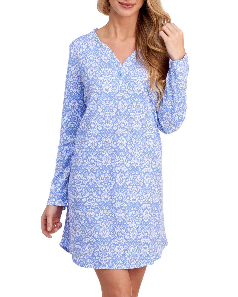 Karen Neuburger Encore Henley Nightshirt L Polyester Cotton Maternity Nursing Dress Nursing Dress Casual Dress [ 1250 x 1000 Pixel ]