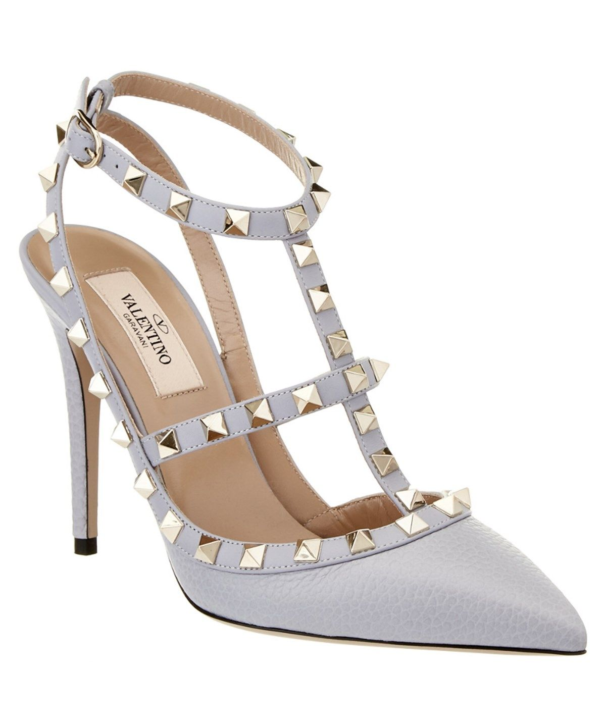 VALENTINO Valentino Rockstud Leather Ankle Strap Pump'. #valentino #shoes #pumps & high heels