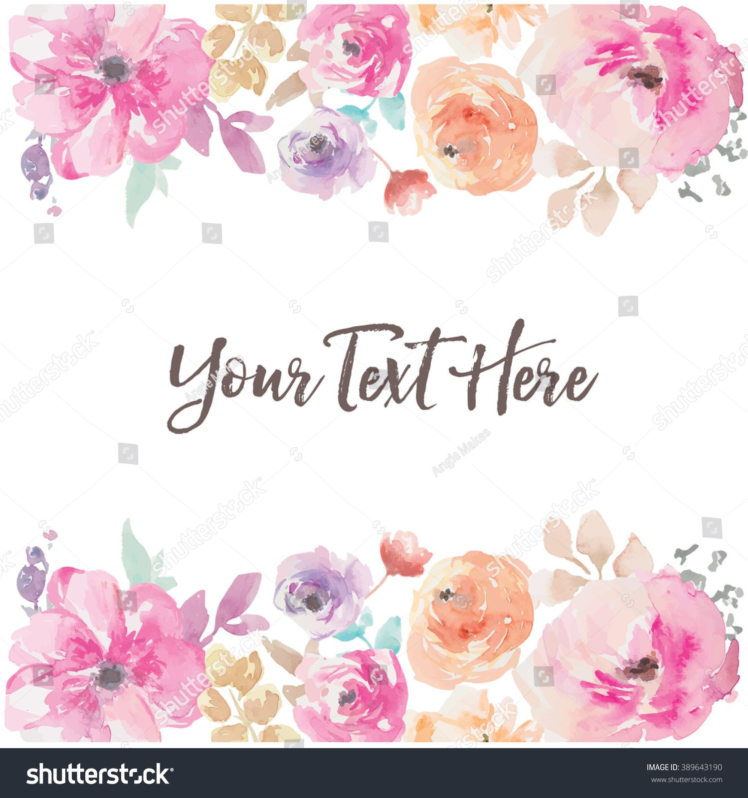 Watercolor Flower Vector Background Border Fondos De Flores