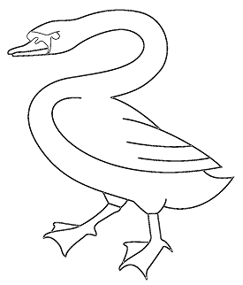Swan Coat Of Arms Coloring Page