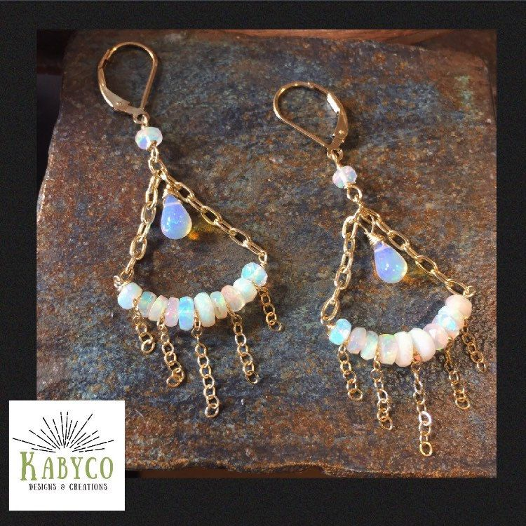 Ethiopian Opal Chandelier Earrings Can Make Everyday Feel Like A Holiday Party