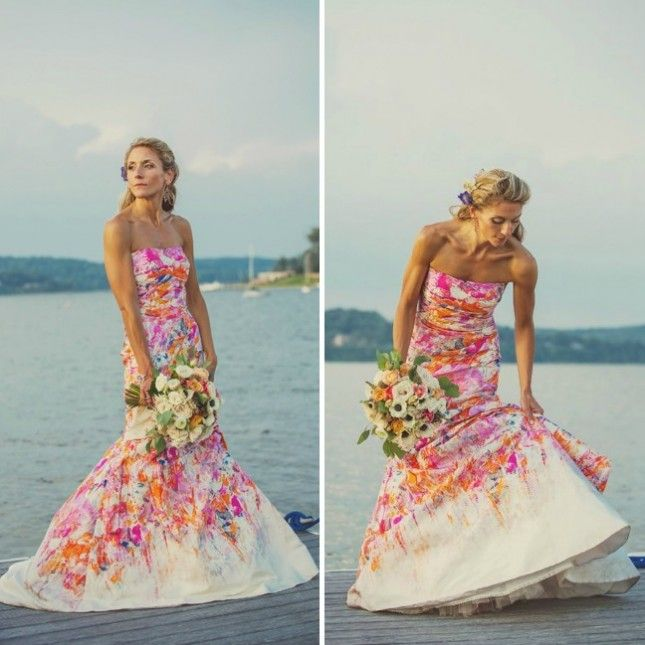 18 Colorful Wedding Dresses for the Non-Traditional Bride | Colorful ...