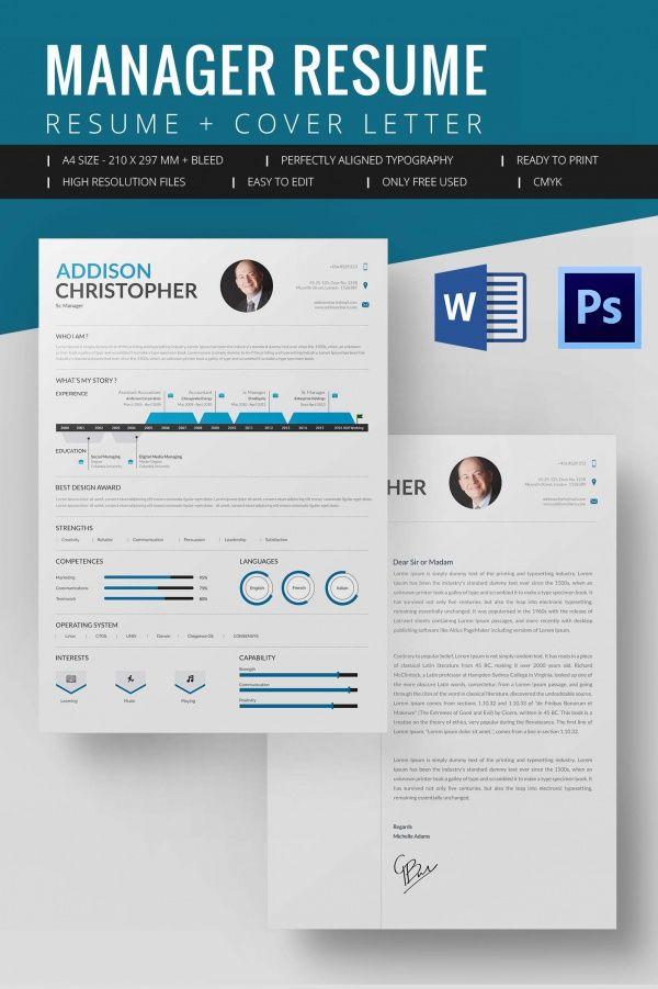 Manager Resume Template  Mac Resume Template  Great For More