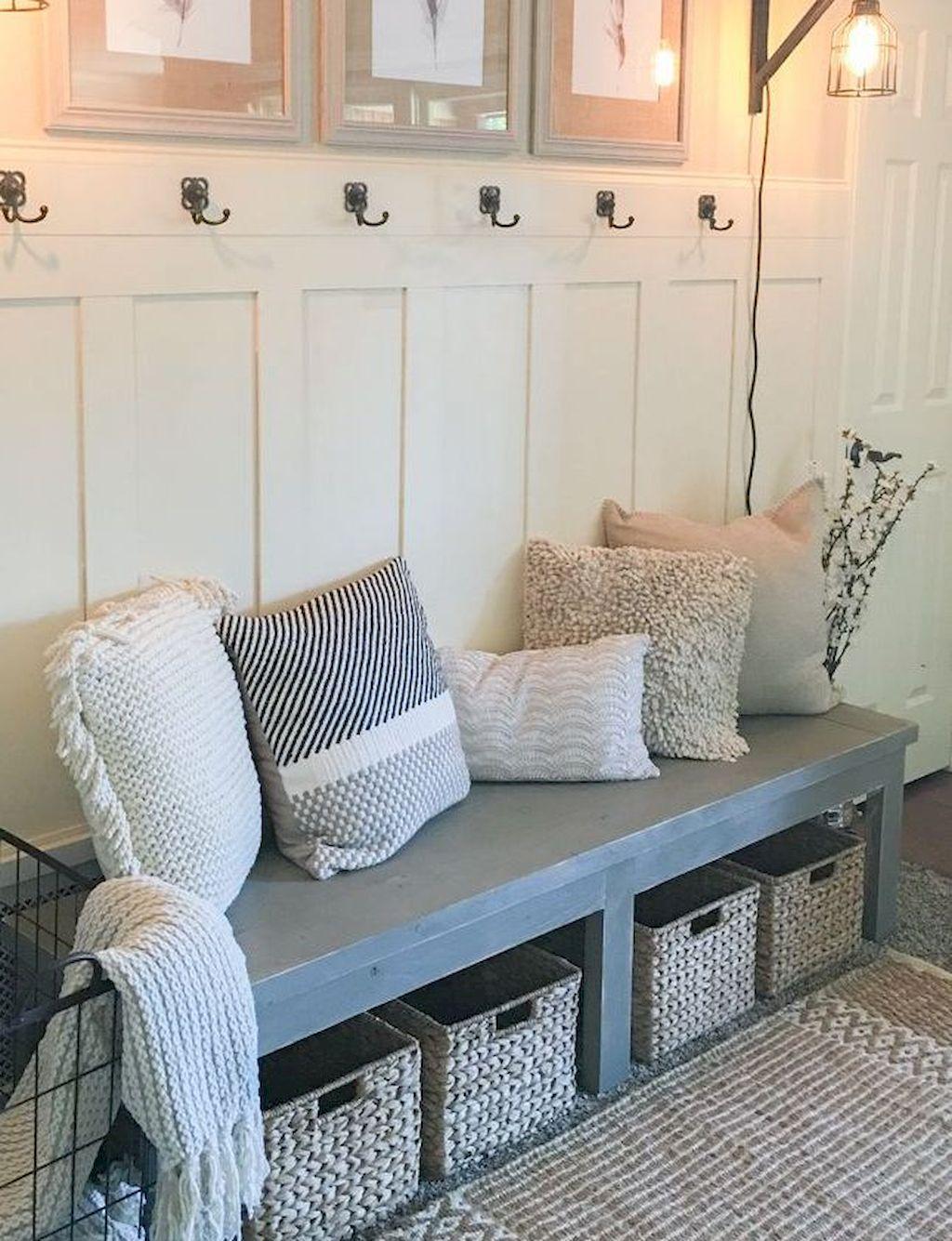 80 Rustic Small Mudroom Bench Ideas Home decor, Home