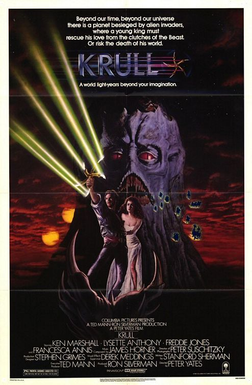 Krull Movie Poster #2 | Fantasy movies, Movies by genre, Movie posters
