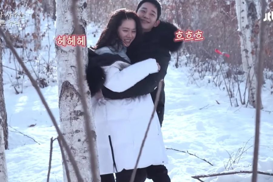 """Watch: Son Ye Jin And Jung Hae In Share Sweet Moments Filming """"Pretty Noona Who Buys Me Food"""""""