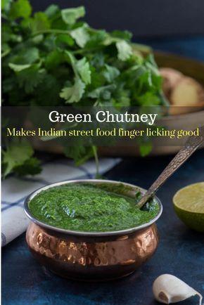 Green chutney (Coriander / Cilantro chutney)