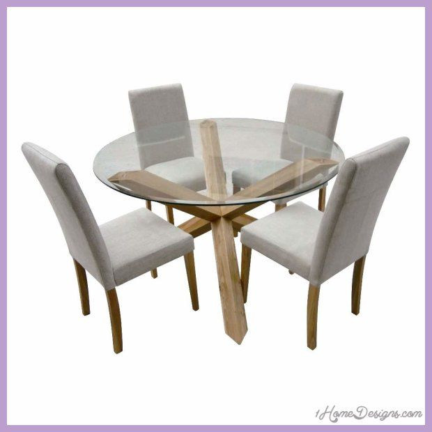 Dining Chairs For Glass Table Glass Round Dining Table Glass