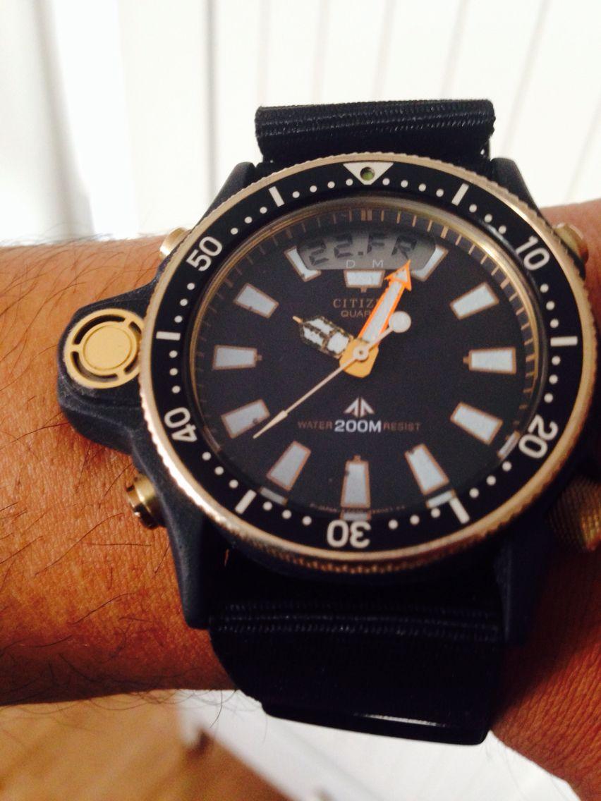Extrem Rare Citizen Classic Aqualand C028 Titanium Orologi Orologio