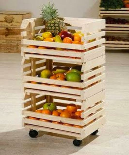 Pallets Vegetables and Fruit Racks