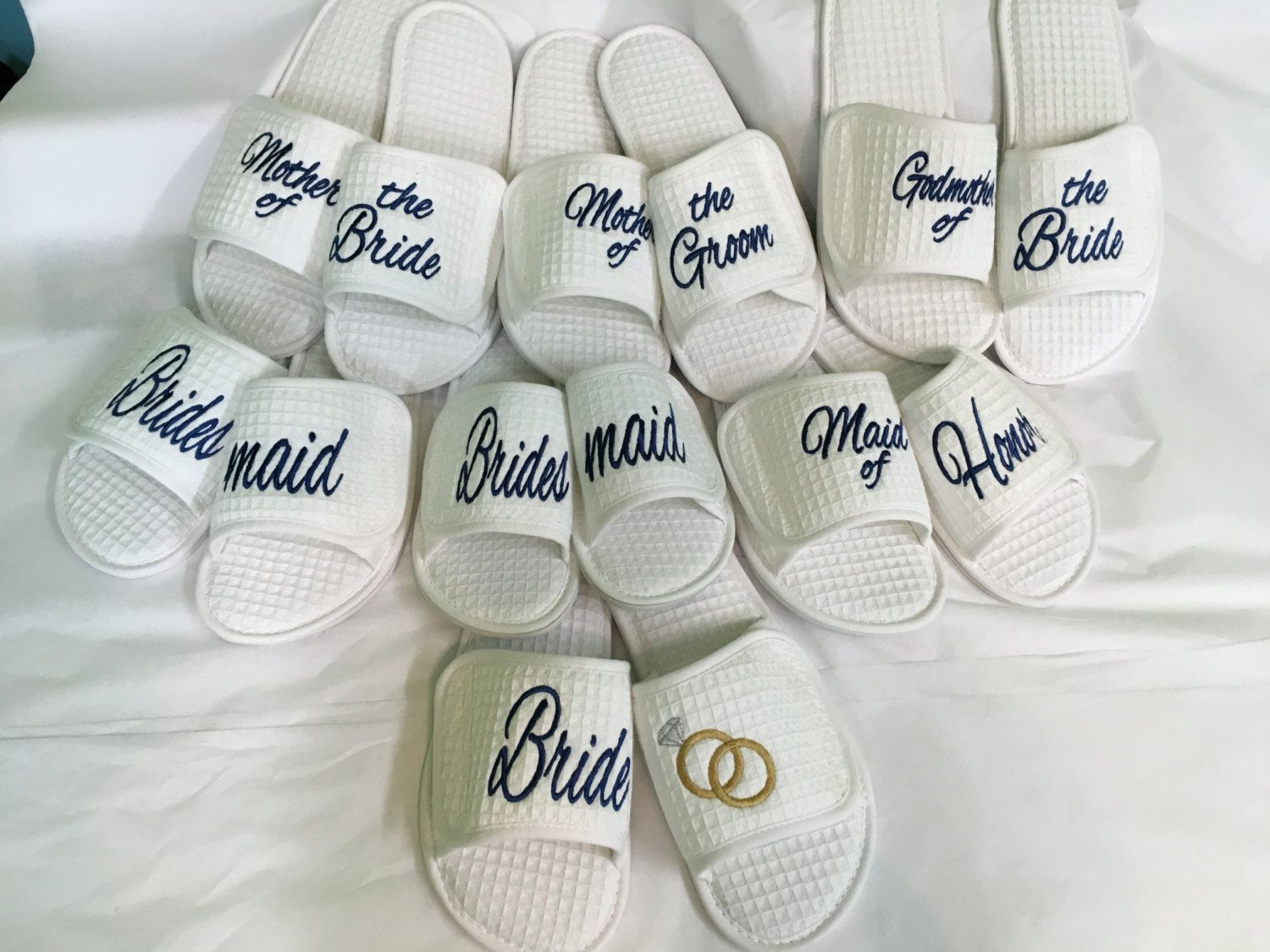 d960a571c Premium Personalized Embroidered Spa Slippers Bride