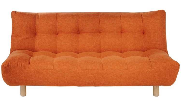 Admirable Buy Habitat Kota 3 Seater Fabric Sofa Bed Orange Sofa Dailytribune Chair Design For Home Dailytribuneorg