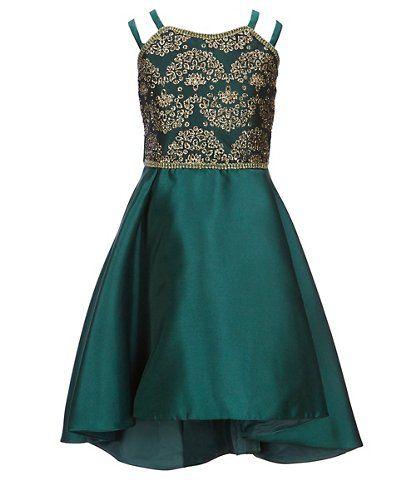 243dafe2497 Bonnie Jean Big Girls 7-16 Sequin Embroidered/Mikado Hi-Low Dress ...