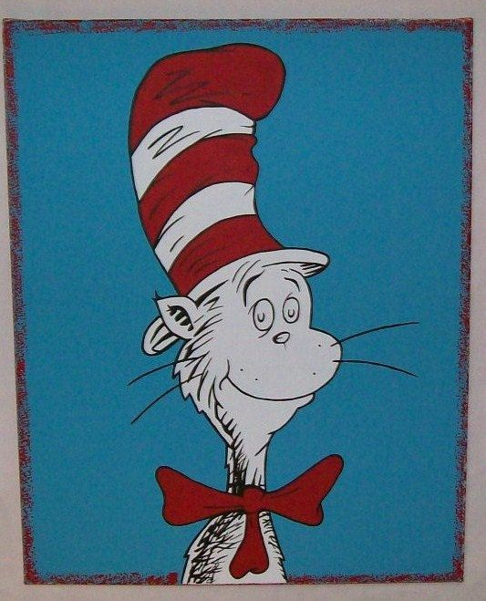 Dr Seuss Cat in the Hat Canvas Painting Wall Decor by mamashpey1 ...