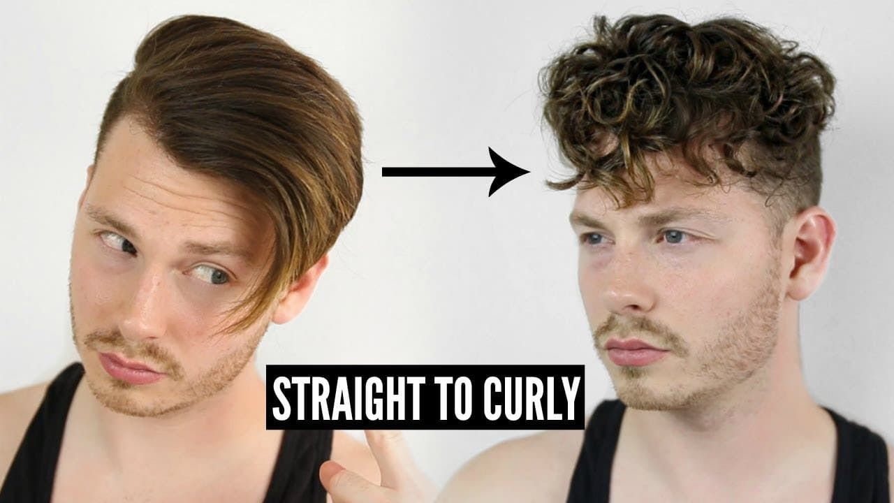 How To Get Curly Hair Men S Tutorial With Images Curly Hair