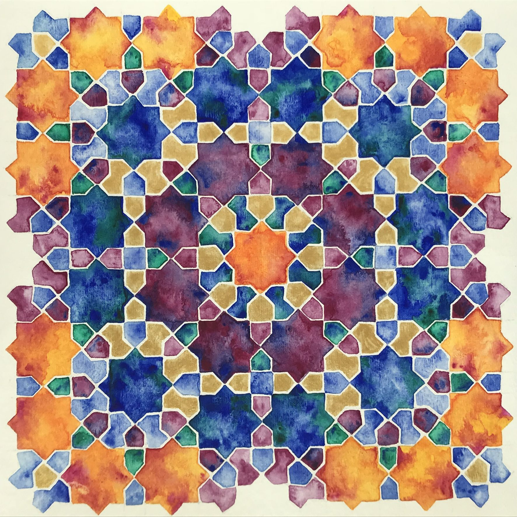 Finished my watercolor for islamic geometric design online course by samira mian also best images in rh br pinterest